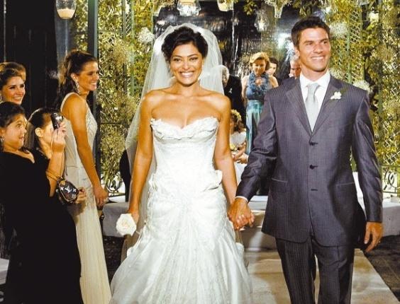 3.out.2008 - Casamento da atriz Juliana Paes com Eduardo Baptista