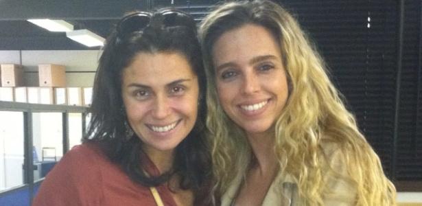 Giovanna Antonelli e Monique Vidal, a delegada que inspirou Glória Perez a criar a Helô de