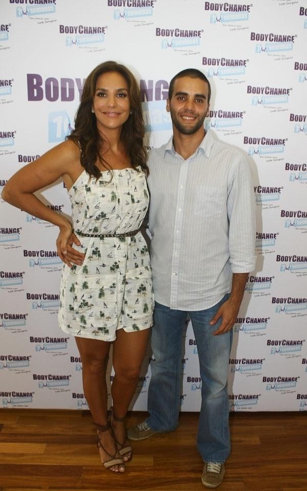 Ivete Sangalo e o marido, o nutricionista Daniel Cady, na coletiva de lançamento do programa BodyChange