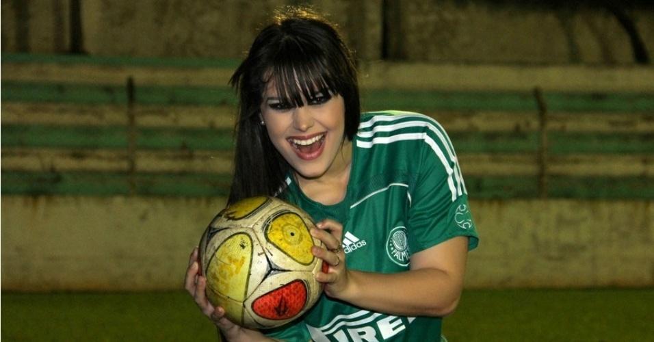 Natalia Paseto quer ser a representante do Palmeiras no Belas da Torcida 2013