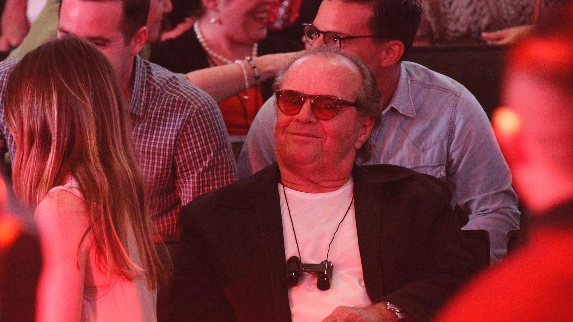 03.mai.2013 - O ator Jack Nicholson assiste à apresentação