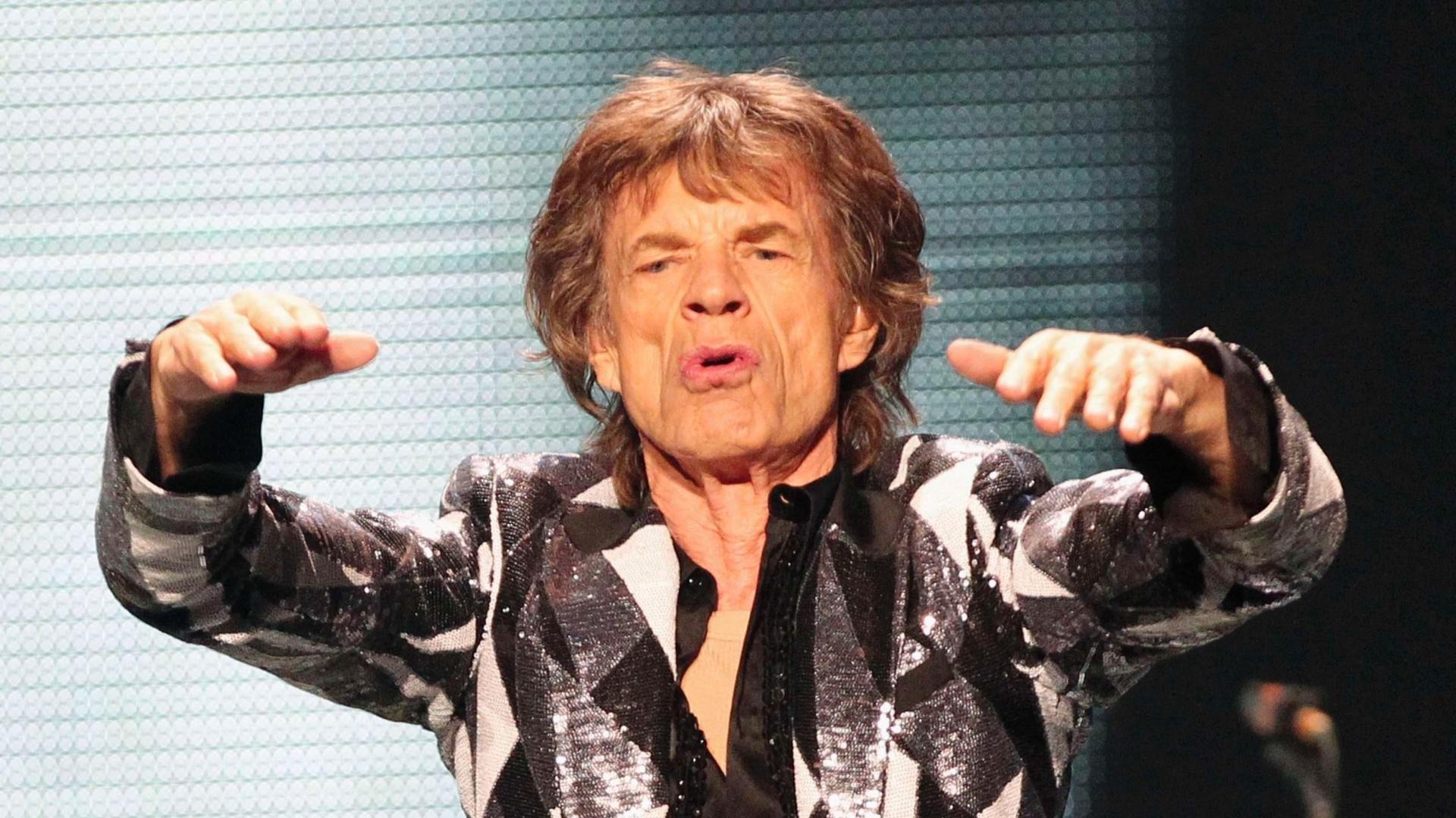 03.mai.2013 - O vocalista da banda, Mick Jagger, durante a apresentação em Los Angeles