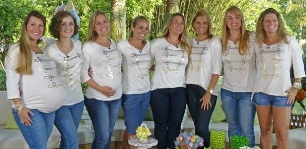 3.mai.2013 - Ex-paquitas que são mães ou estão grávidas participam da edição especial do