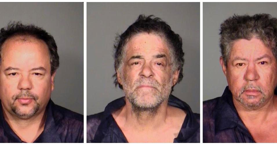 Da esq. para dir.: Ariel Castro, 52, Onil e Pedro Castro, acusados de sequestrar e manter em cativeiro três mulheres em Cleveland, Ohio, por dez anos