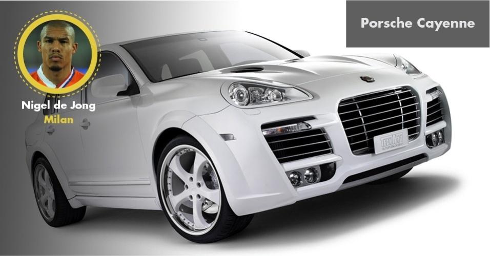 De Jong, volante holandês do Milan, tem um Porsche Cayenne TechArt Magnum de cerca de R$ 1 milhão