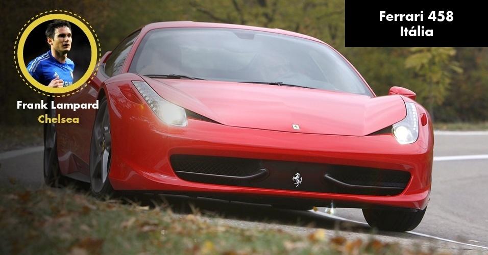 Frank Lampard, astro do Chelsea, tem uma Ferrari 458 Italia de R$ 1,5 milhão