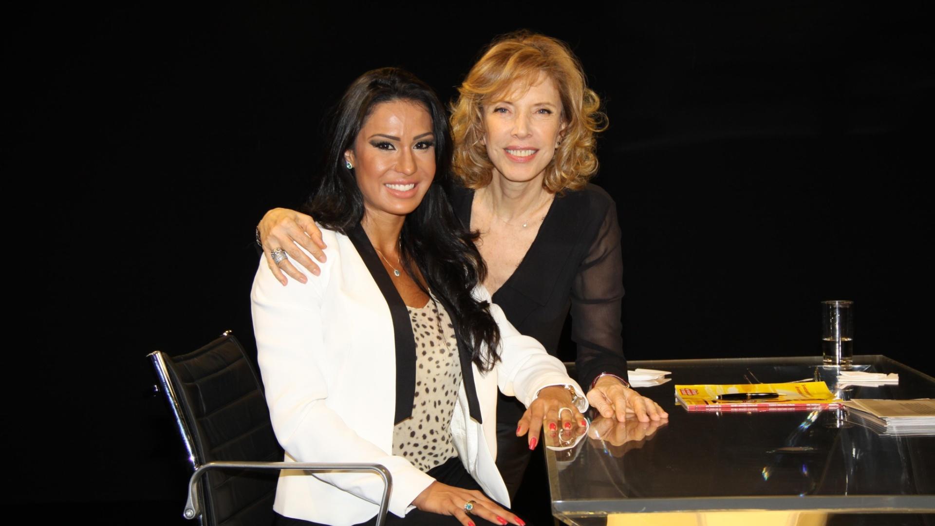 Gracyanne Barbosa é entrevistada por Marília Gabriela no