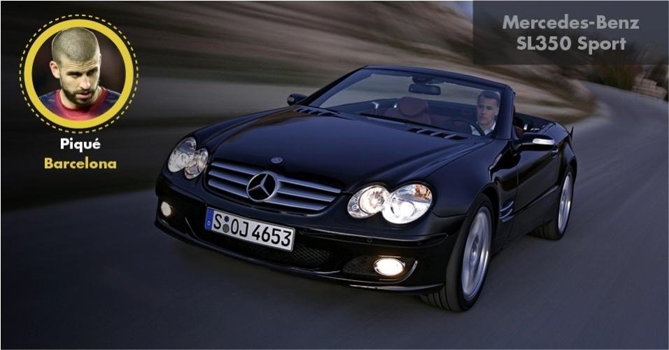 O zagueiro Piqué, do Barcelona, dirige uma Mercedes SL 350 Sport, de R$ 420