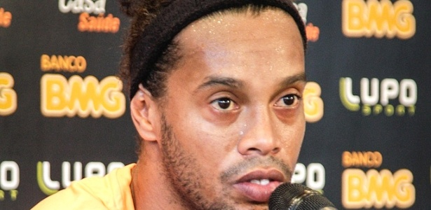 Ronaldinho Gacho, do Atltico-MG, concede entrevista na Cidade do Galo (7/5/2013)
