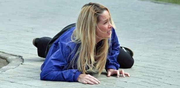8.mai.2013 - Dani Winits gravou cenas da morte de Marcela