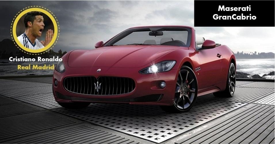 A Maserati Grancabrio do atacante do Real vale R$ 920 mil