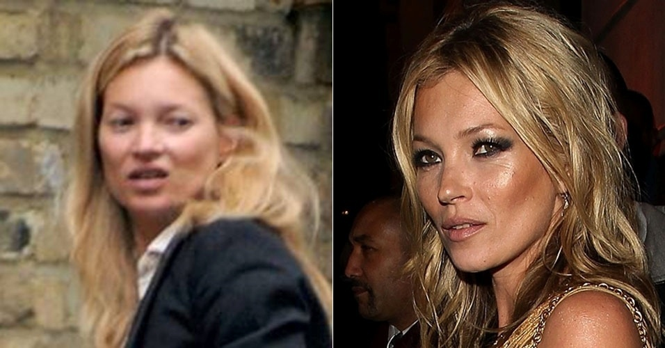 A modelo inglesa Kate Moss costuma sair pelas ruas com rosto ao natural, sem se preocupar com os papparazzi