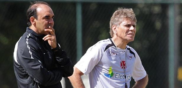 A dupla Ricardo Gomes e Paulo Autuori perdeu um dia de trabalho no Vasco da Gama