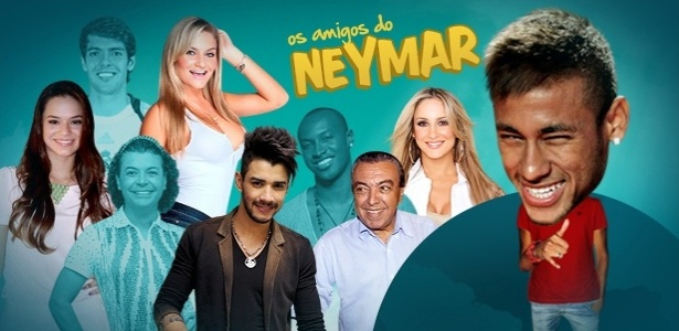 Chamada infogrfico Os amigos do Neymar