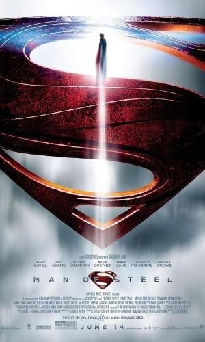 """Poster de """"O Homem de Aço"""", que estreia nos cinemas em 14 de junho de 2013"""