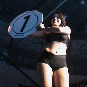 12.mai.2013 - Ring Girl durante evento Max Sport 132 em So Paulo 