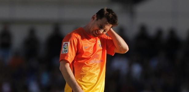 Messi não jogou bem contra o Atlético de Madri e ainda deixou o campo machucado