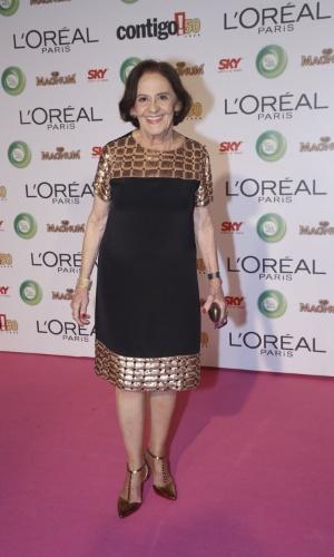 13.mai.2013 -  A atriz Laura Cardoso participa de 15º Prêmio Contigo!, no Copacabana Palace, no Rio de Janeiro