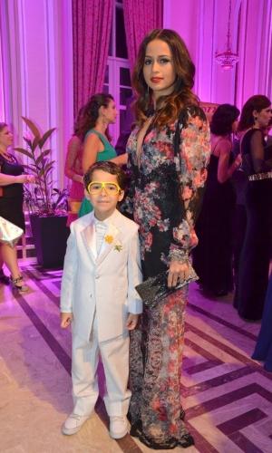 13.mai.2013 - A atriz Nanda Costa e o ator mirim Luiz Felipe Melo participam do 15º Prêmio Contigo!, no Copacabana Palace, no Rio de Janeiro
