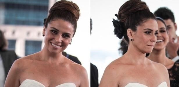 13.mai.2013 - Helô (Giovanna Antonelli) se casa em