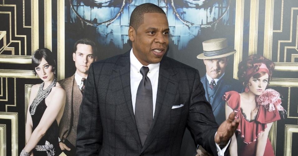 1.mai.2013 - O rapper Jay-Z chega à pré-estreia de