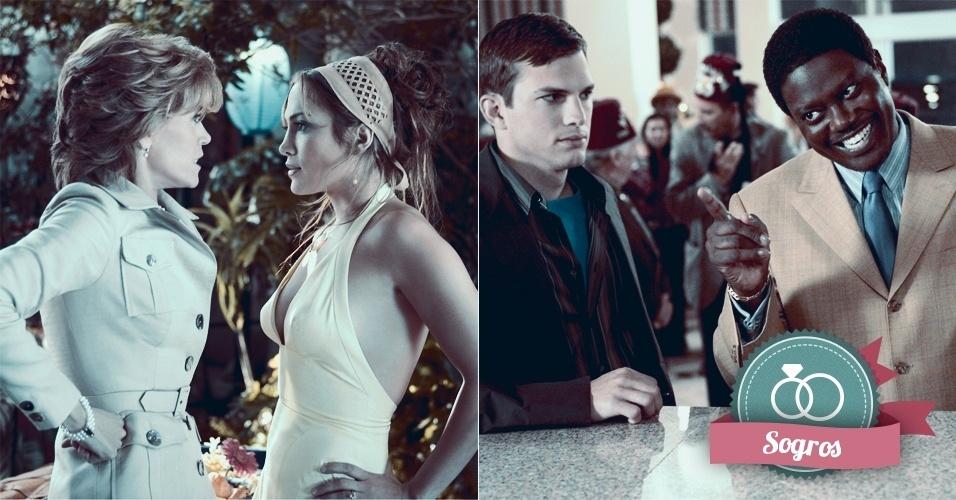 Montagem para matéria de Casamento sobre filmes que podem ajudar na organização do casamento - A Sogra e A Família da Noiva
