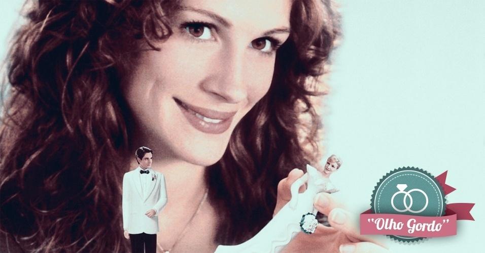 Montagem para matéria de Casamento sobre filmes que podem ajudar na organização do casamento - Casamento do Meu Melhor Amigo