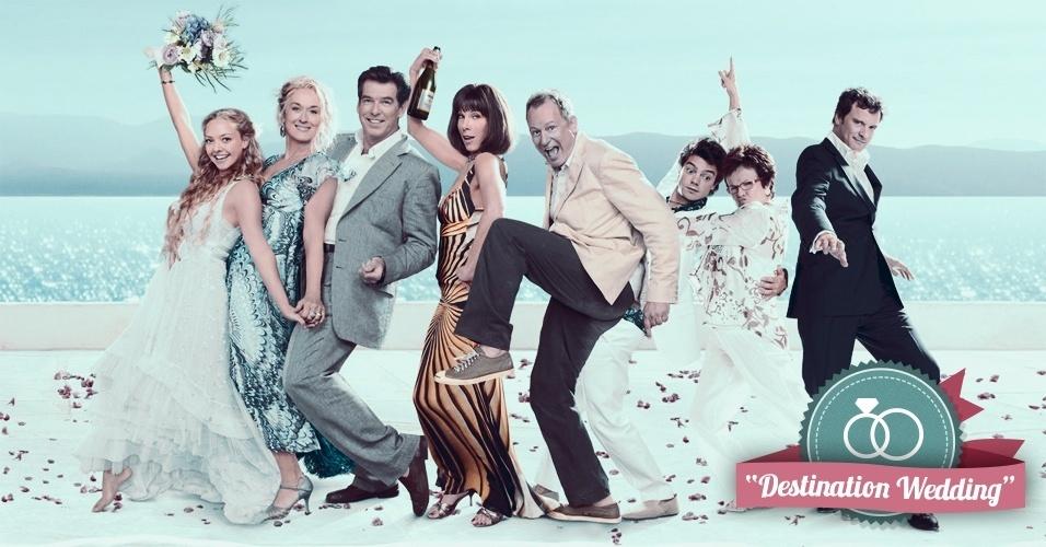 Montagem para matéria de Casamento sobre filmes que podem ajudar na organização do casamento - Mamma Mia!