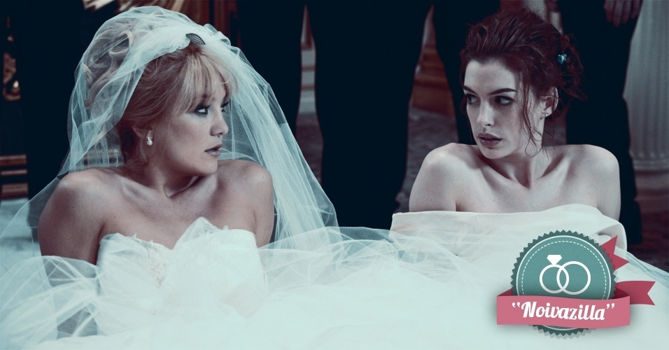 Montagem para matéria de Casamento sobre filmes que podem ajudar na organização do casamento - Noivas em Guerra