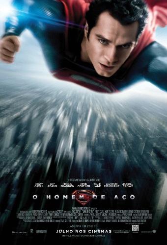 """Novo pôster de """"O Homem de Aço"""" em português, divulgado nesta terça-feira (14). A produção, dirigida por Zack Snyder, estreia nos cinemas em 14 de junho de 2013"""