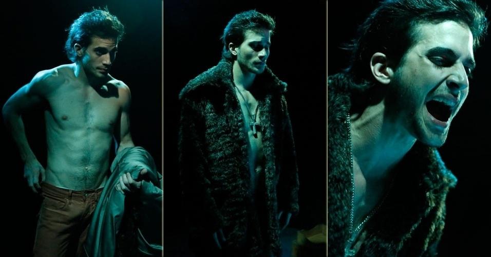 """15.mai.2013 - Fiuk grava clipe """"Toma Toma"""" com a participação de Mc Sapão na Boate Miami Show, em Copacabana, Rio de Janeiro"""