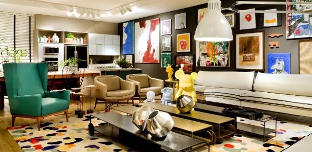 As designers de interiores Fatima Mesquita, Márcia Albieri e Regina Amaral assinam o Loft 54, de 100 m²