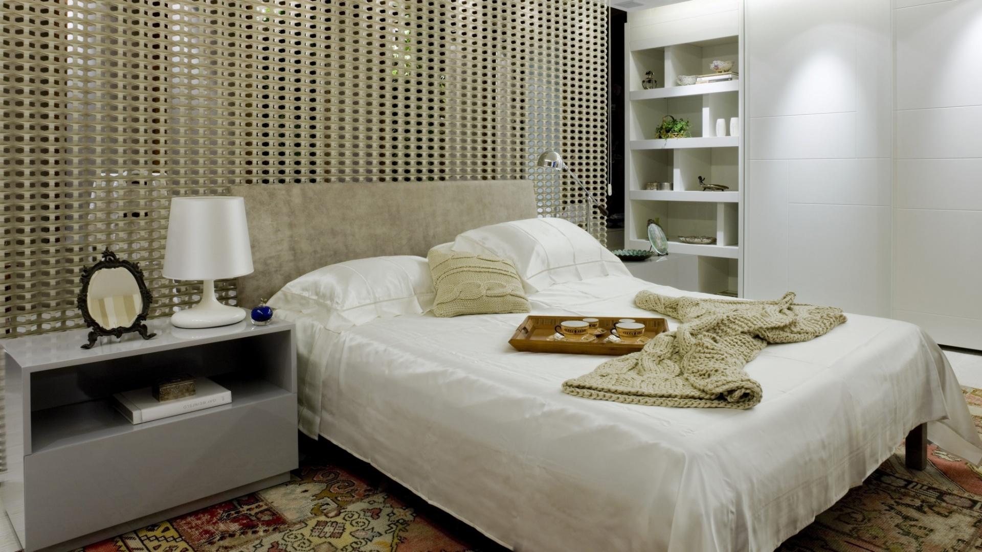 Quarto De Casal Com Closet E Banheiro Moderno E Luxuoso #272B5D 1920 1080
