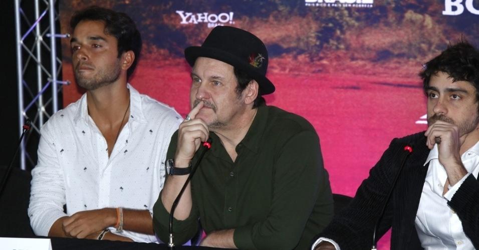 16.mai.2013 - Antonio Calloni durante coletiva de imprensa de