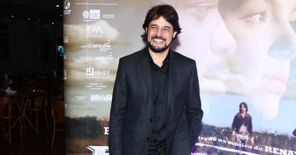 16.mai.2013 - O diretor Rene Sampaio durante a pré-estreia de