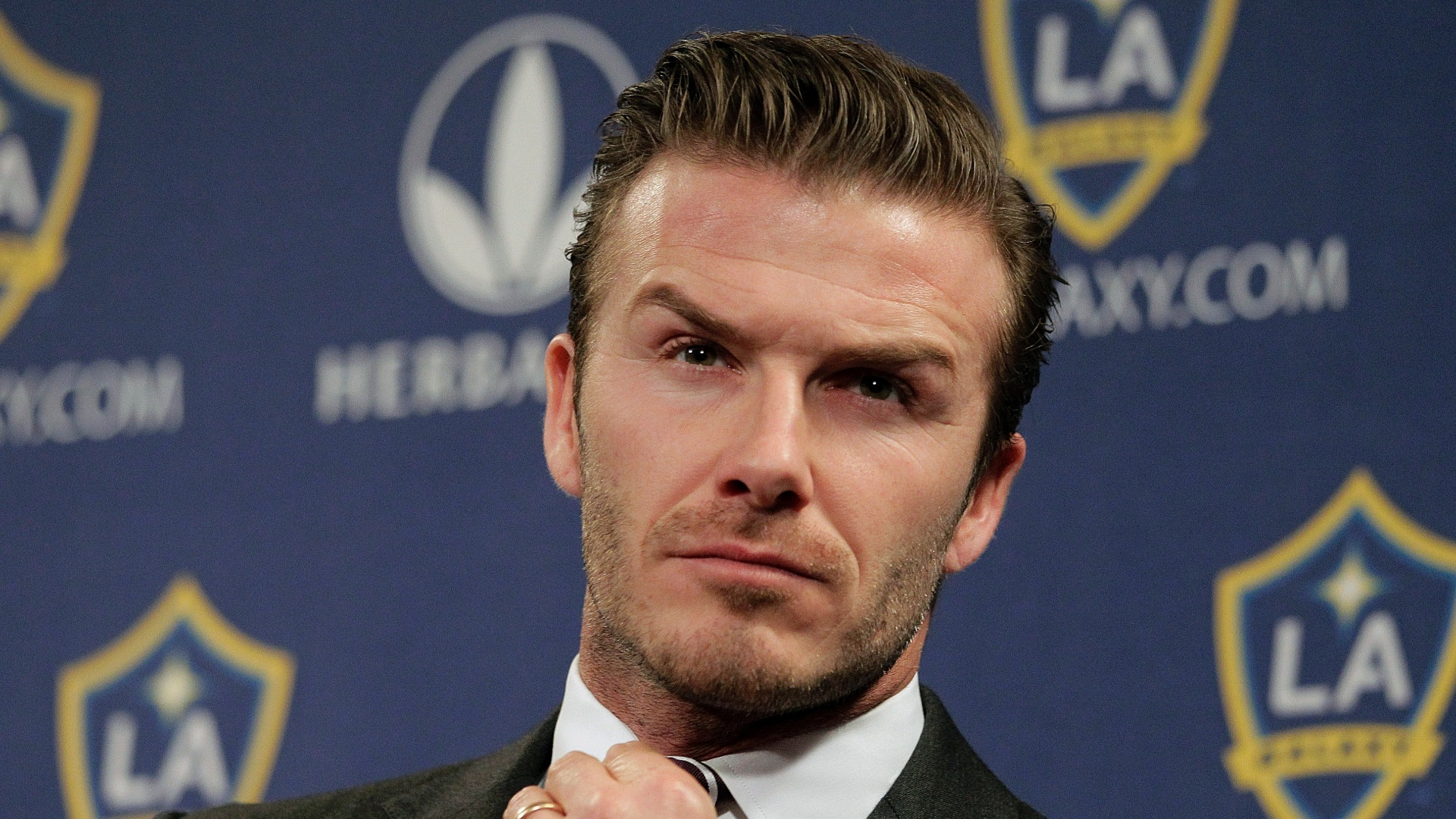 19.jan.2012 - Nos tempos de LA Galaxy, nos Estados Unidos, David Beckham adotou o estilo