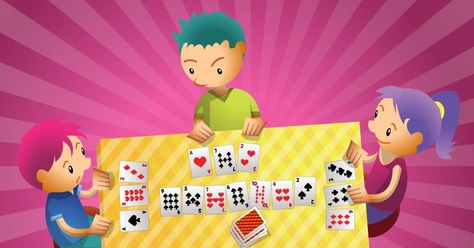 jogo com baralho Borboleta, para crianças a partir de 6 anos