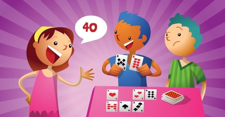 jogo com baralho Jogando com Multiplicação, para crianças a partir de 6 anos