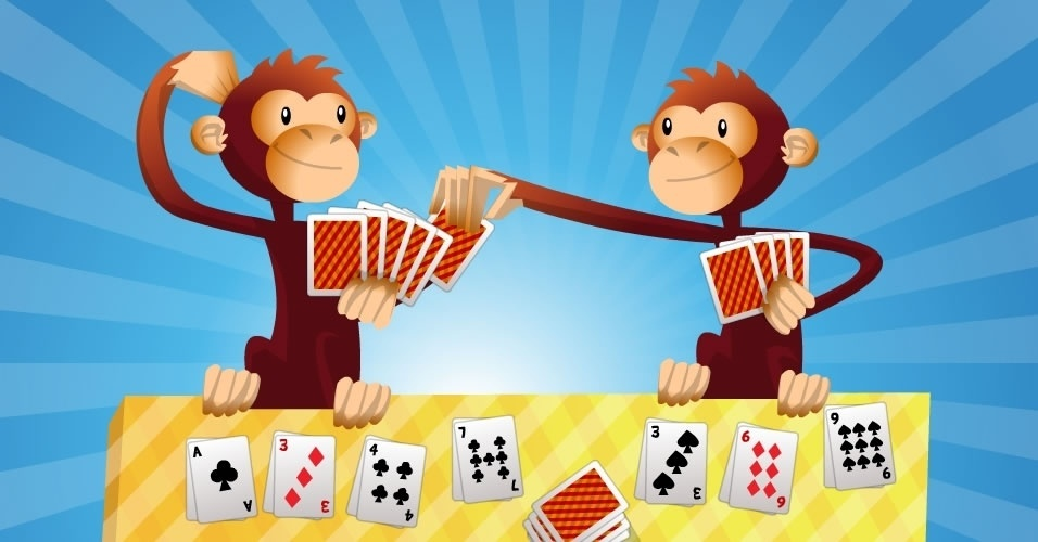 jogo com baralho Mico, para crianças a partir de 6 anos