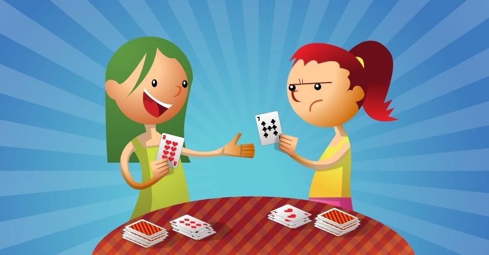 jogo com baralho Papa Tudo, para crianças a partir de 5 anos