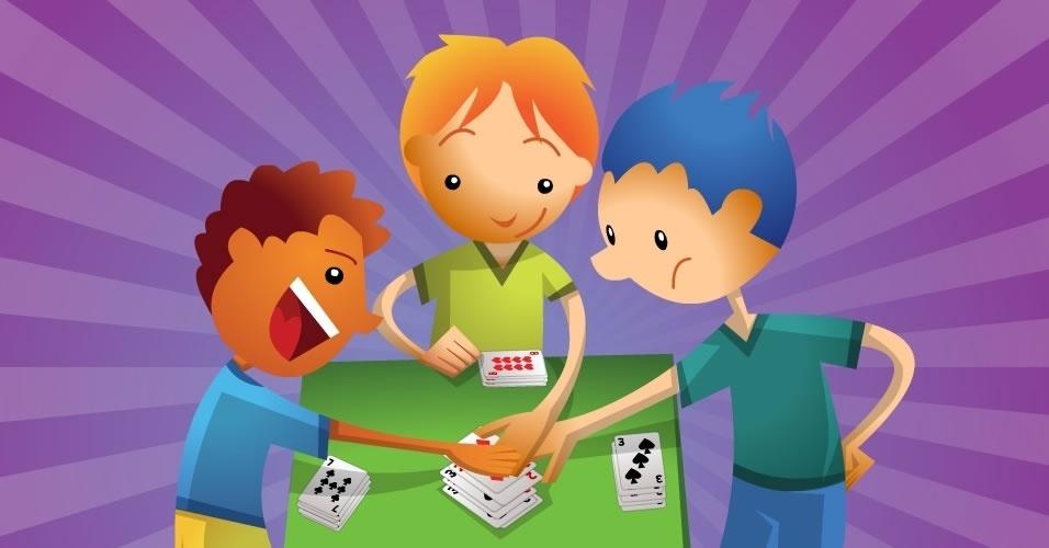 jogo com baralho Tapa, para crianças a partir de 4 anos