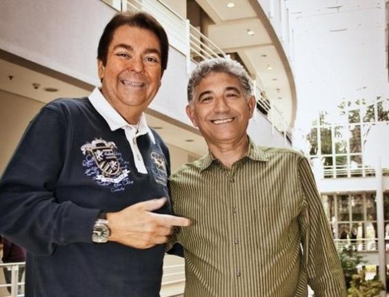 Mai.2013 - O apresentador Fausto Silva e pizzaiolo Pedro Almeida