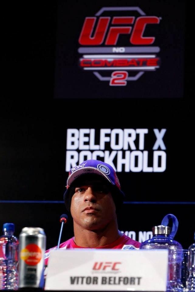 Vitor Belfort, que enfrentará Luke Rockhold, concede entrevista coletiva para o UFC Jaraguá