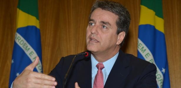 17.mai.2013 - O novo diretor-geral da Organização Mundial do Comércio, embaixador Roberto Carvalho de Azevêdo, ao conceder sua primeira entrevista no Brasil após ser eleito para o cargo