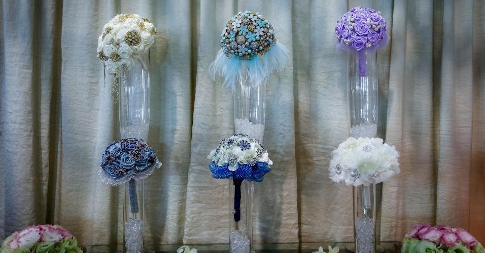 Expo Noivas & Festas - buquê de broches da Hangar Flores