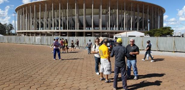 Estádio de Brasília abriga a estreia da seleção contra o Japão no dia 15 de junho