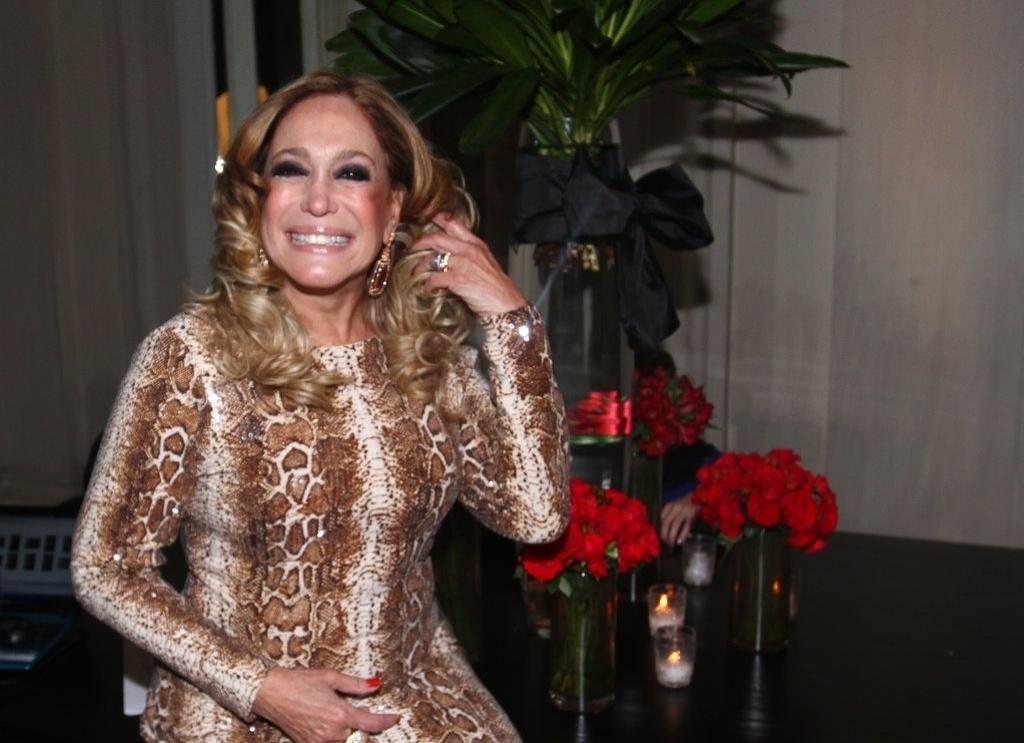 18.mai.2013 - Susana Vieira na festa organizada pela Globo em um restaurante de SP para promover a novela