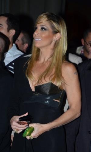 """18.mai.2013 - Danielle Winits na festa organizada pela Globo em um restaurante de SP para promover a novela """"Amor à Vida"""""""