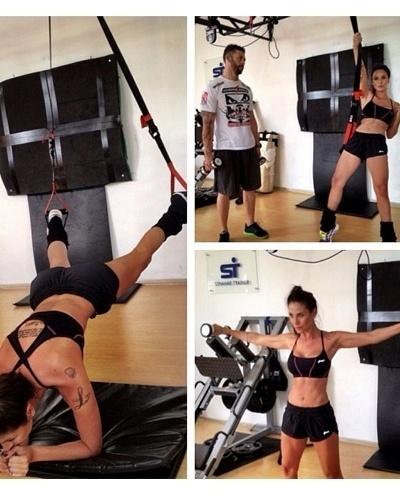 20.mai.2013 - Lizzi Benites aposta em exercícios com TRX e na elevação lateral para definir o corpo