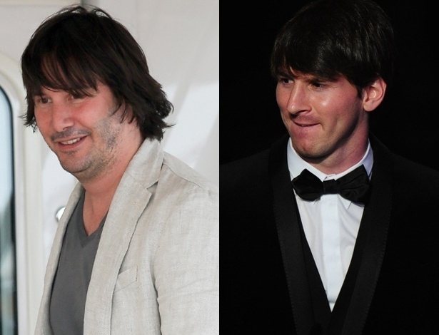 Keanu Reeves e Lionel Messi